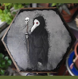 Plague Doctor Decoupage And Hand Painted Jewelry Box