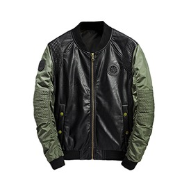 Bomber Jacket With Leather