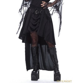 Black Gothic Ring Band Cocktail Chiffon Skirt Kw113