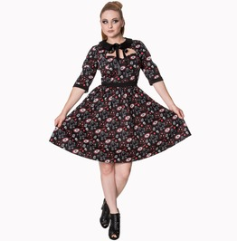 Banned Apparel Two Faced 3/4 Sleeve Dress