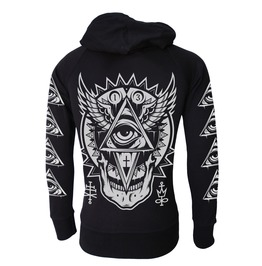 All Seeing Eye Hooded Sweatshirt Zip Hoodie Occult Goth Metal Biker