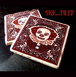 Drinktime With Pennywise Stone Drink Coaster Set 2 It