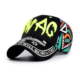 Swag Graffiti Baseball Cap Shade Top Flat Hat,Totem Women Men Truck Cap