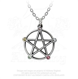 Wiccan Elemental Pentacle Necklace