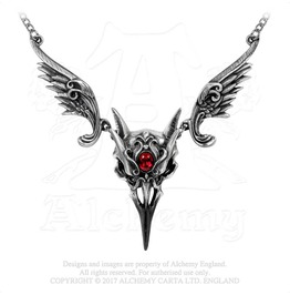 Masque Of The Black Rose Necklace