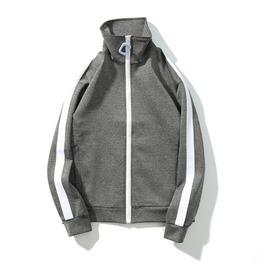 Grey Jumper Jacket Oversized Zipper