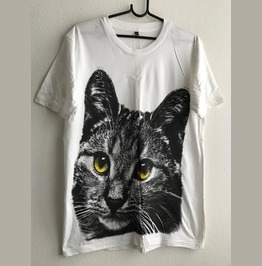 Cat Cute Animal Cool Print Fashion Pop Rock T Shirt M