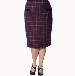 Banned Apparel Maddy Pencil Plus Size Skirt