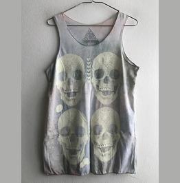 Skulls Gothic Indie Rock Fashion Vest Tank Top