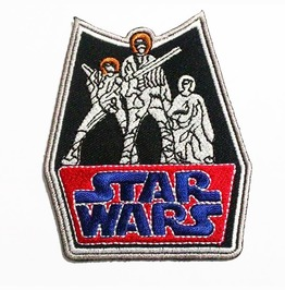 Retro Star Wars Embroidered Iron On Patch.