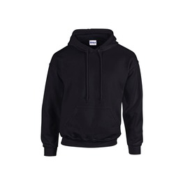 Men's Black Hoodie Sweatshirt Embroidery Can Be Added