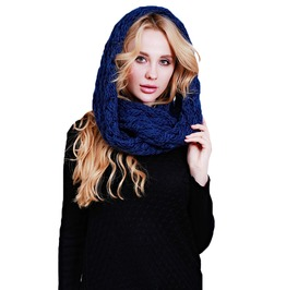 Winter Knitted Infinity Scarf Circle Scarf Women