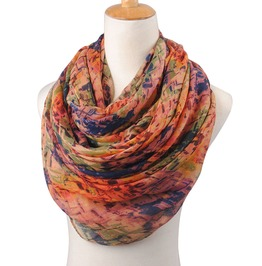 Autumn Winter Printed Polyester Vintage Retro Scarf