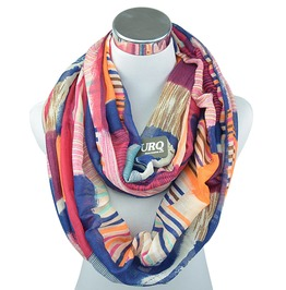 Printed Rainbow Plaid Winter Tube Infinity Scarf Women