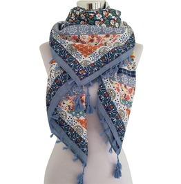 Bandana Vintage Boho Print Tassel Winter Scarf Winter Wraps Women