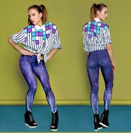 Feather Style Print Leggings