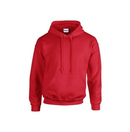 Men's Red Hoodie Sweatshirt Embroidery Can Be Added