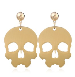 New Golden Skull Dangle Earrings