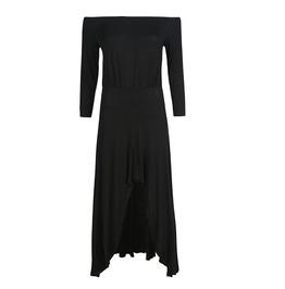 Women's Off Shoulder High/Low Midi Dress