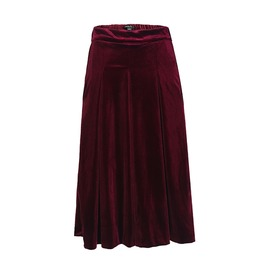Women's Fashion Pleated Broad Leg Pants Loose Elastic Waist Pants Leisure P