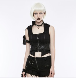 Punk Rave Women's Steampunk Buckle Belt Vests Thoracotomy Waistcoat Wy828