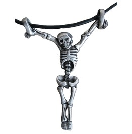 Skeleton Inri Skull Pendant Punk Emo Dark Goth Necklace