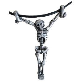 Skeleton Inri Skull Pendant Punk Emo Dark Goth Necklace