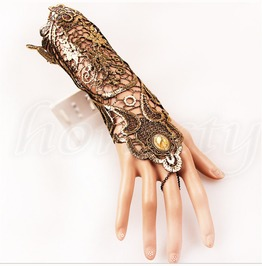 Bracelet Ring Lace Gothic Vintage Steampunk Gloves Hand Wedding Accessories