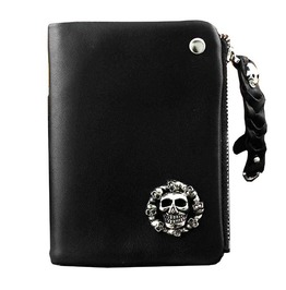 Punk Rock Skulls Rivets Wallet Card Holder Men