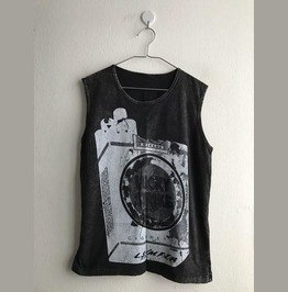 Punk Stone Wash Vest Tank Top M