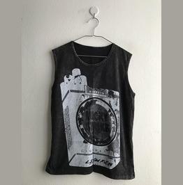 Punk Stone Wash Vest Tank Top M
