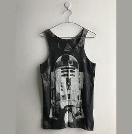 R2 D2 New Wave Punk Pop Rock Tie Dye Color Tank Top
