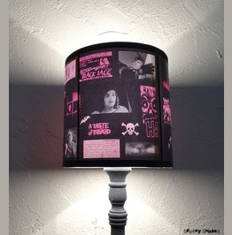 Pink Horror Drum Table Lampshade Lamp Shade