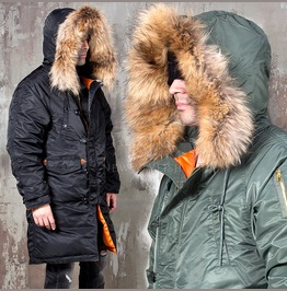 Premium Racoon Fur Duck Down Padded Parka 45