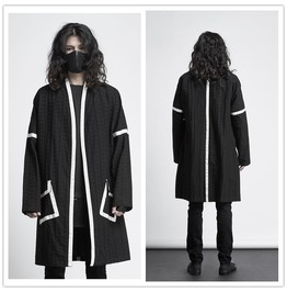 Men's New Casual Stylish Trench Coat Mid Long Jacket Overcoat
