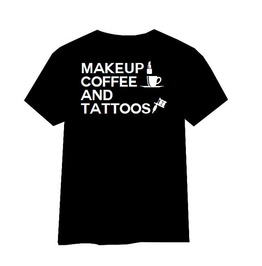 Coffee And Tattoos Tshirt, Makeup Coffee And Tattoos Shirt, Tattoo Tshirt