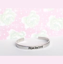 Feminist Hypoallergenic Aluminum Cuff Bracelet