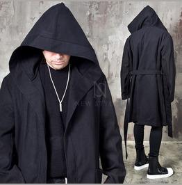 Avant Garde Belted Big Hooded Coat 150