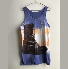 Boots Color Indie Rock Fashion Vest Tank Top