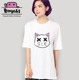 Neko Die White T Shirt Pastel Goth Japan Kawaii Style