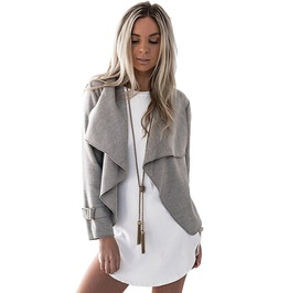 Long Sleeve Outerwear Coat Open Stitch Cardigan Jacket Women