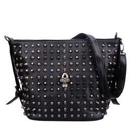 Punk Skull Rivets Bucket Bag Shoulder Bag Women