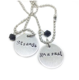 Strange And Unusual Best Friend Necklace Set