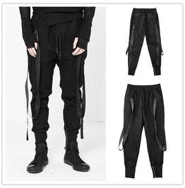 Men Fashion Skinny Harem Pants Baggy Slacks Trousers Pencil Pants