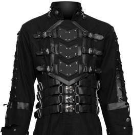 Hellraiser Dark Goth Coat Gothic Steampunk Jacket Men Costume Coat