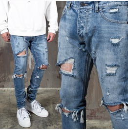 Extra Distressed Ripped Skinny Jeans 321