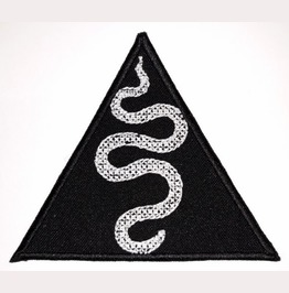 Snake Embroidered Patch, 4 X 3,2 Inch