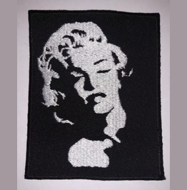 Marilyn Monroe Embroidered Patch, 3,6 X 3,2 Inch