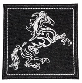 Horse Embroidered Patch, 3,6 X 3,6 Inch
