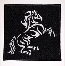 Horse Variation 2 Embroidered Patch, 3,6 X 3,6 Inch